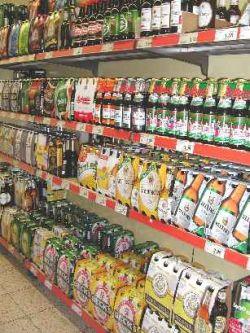 ドイツのビール陳列棚
