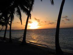 タヒチ 夕陽